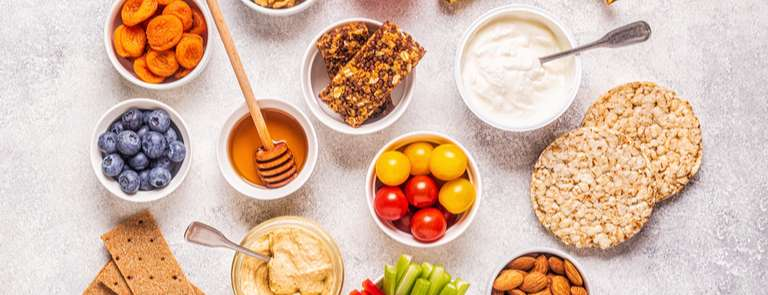 selection of healthy snacks