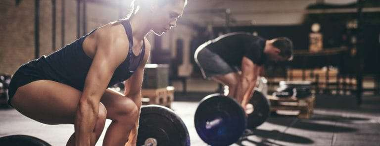 Fit people are going to do deadlift. Horizontal indoors shot