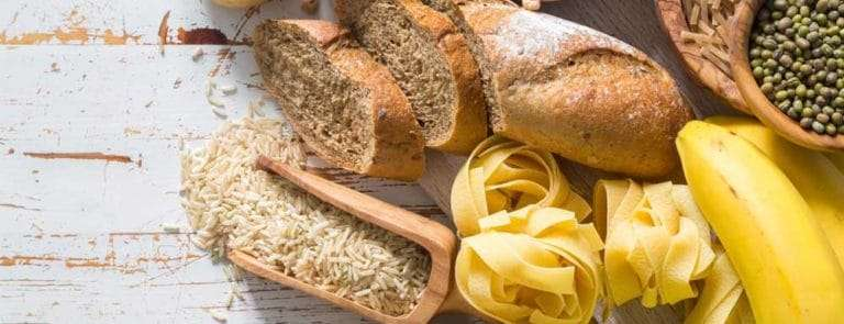 Bread, pasta, potatoes, fruit and rice