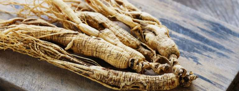 ginseng root on table