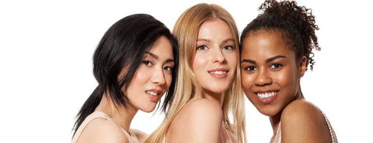 different women of varying skin tones and hair colours