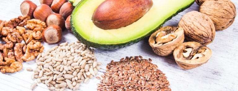Avocado, nuts and seeds