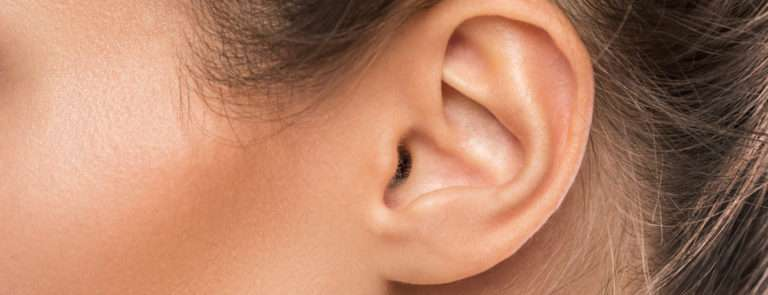 An image of a ladies ear.