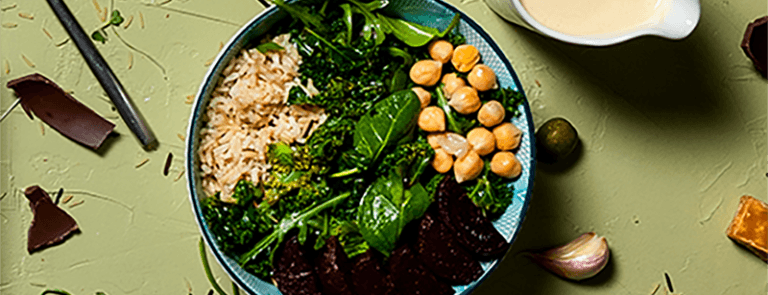 kale and beetroot bowl