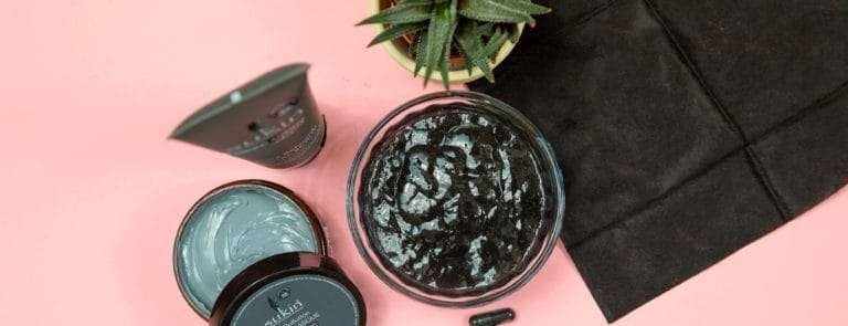 Charcoal skincare products
