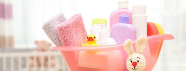 eco friendly baby products in container