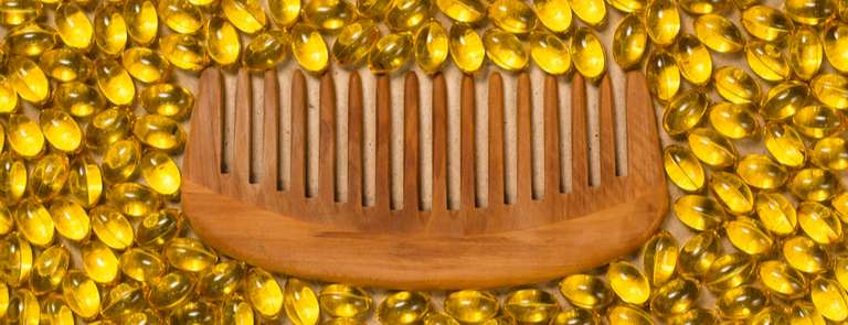 biotin supplements with hair comb