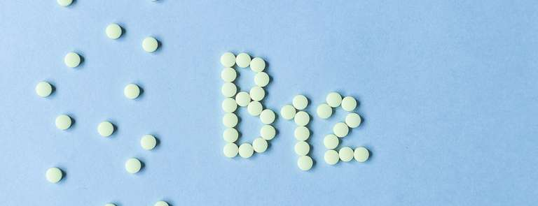 vitamin b12 tablets spelling out b12